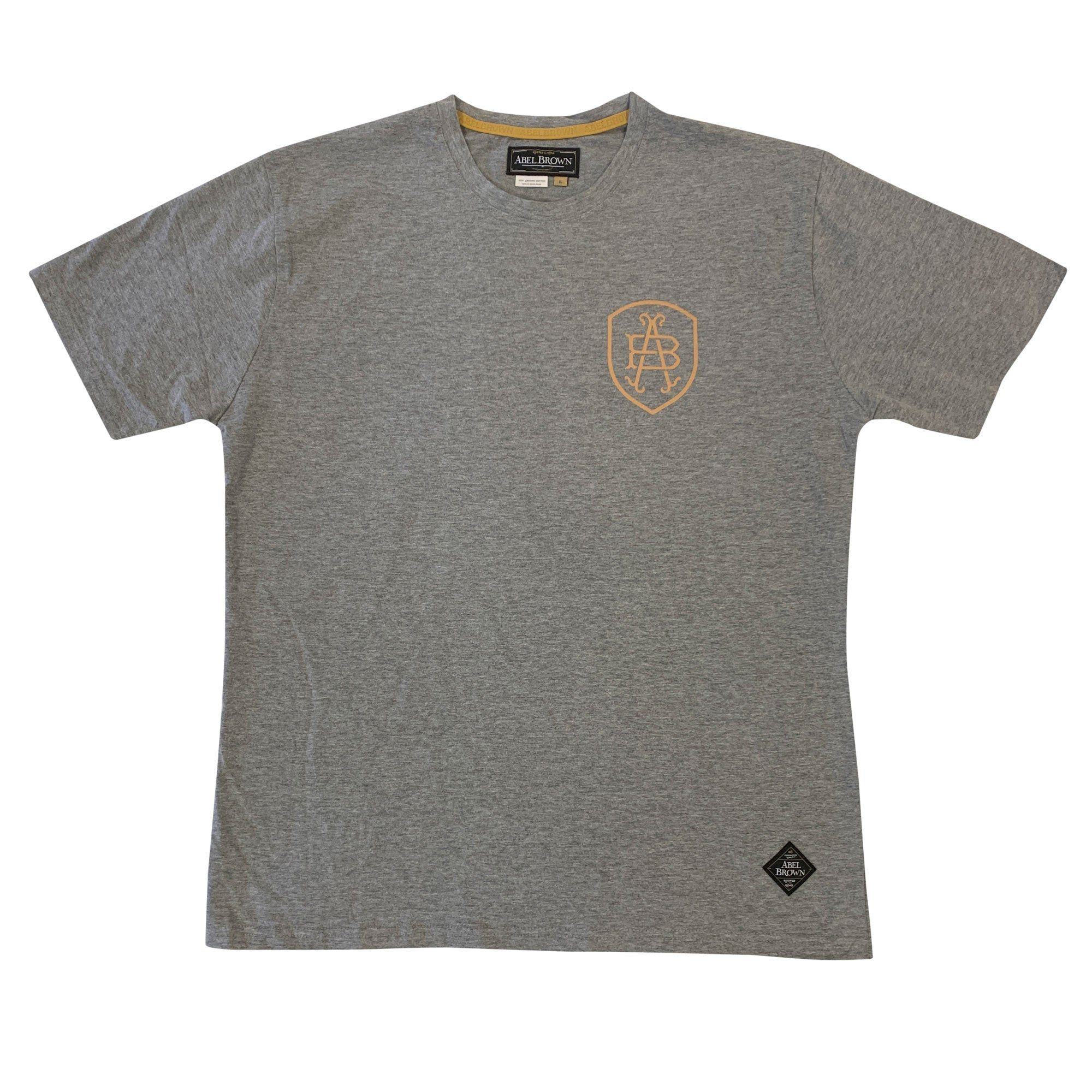 Abel Brown Eagle Tee - Heather Grey