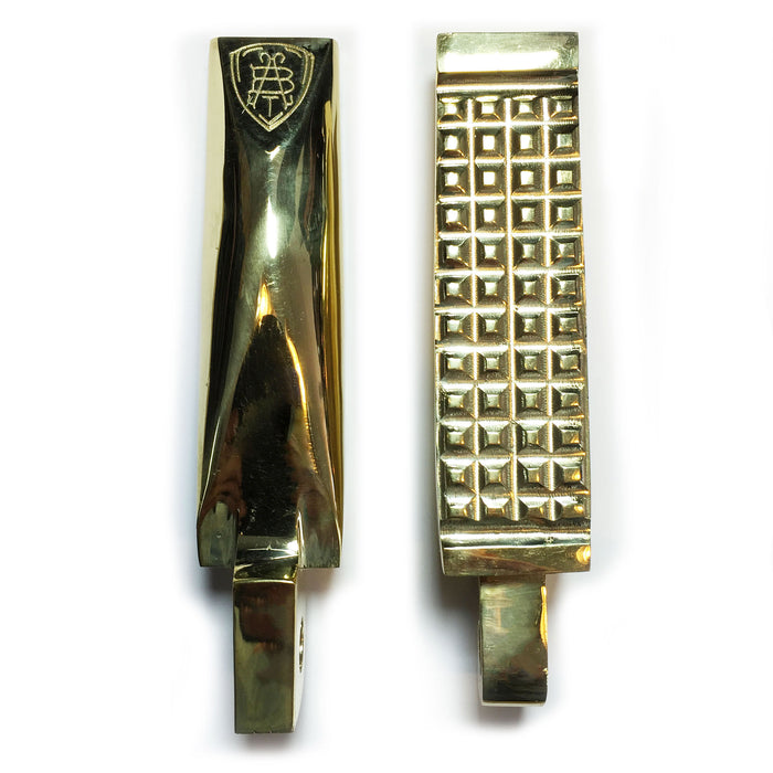 Grounded Brass Foot Pegs - Abel Brown