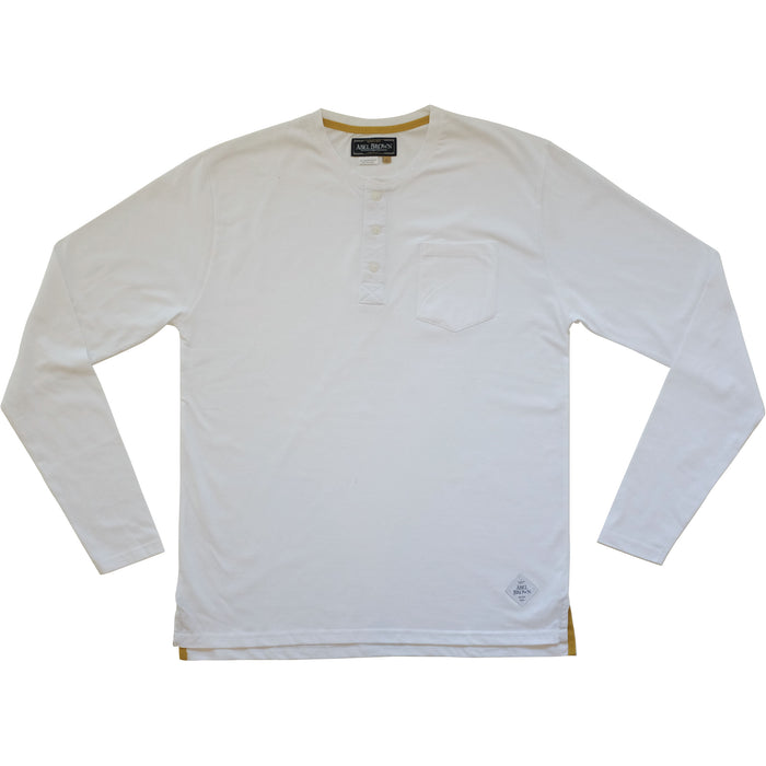 Classic LS Henley shirt - White - Abel Brown