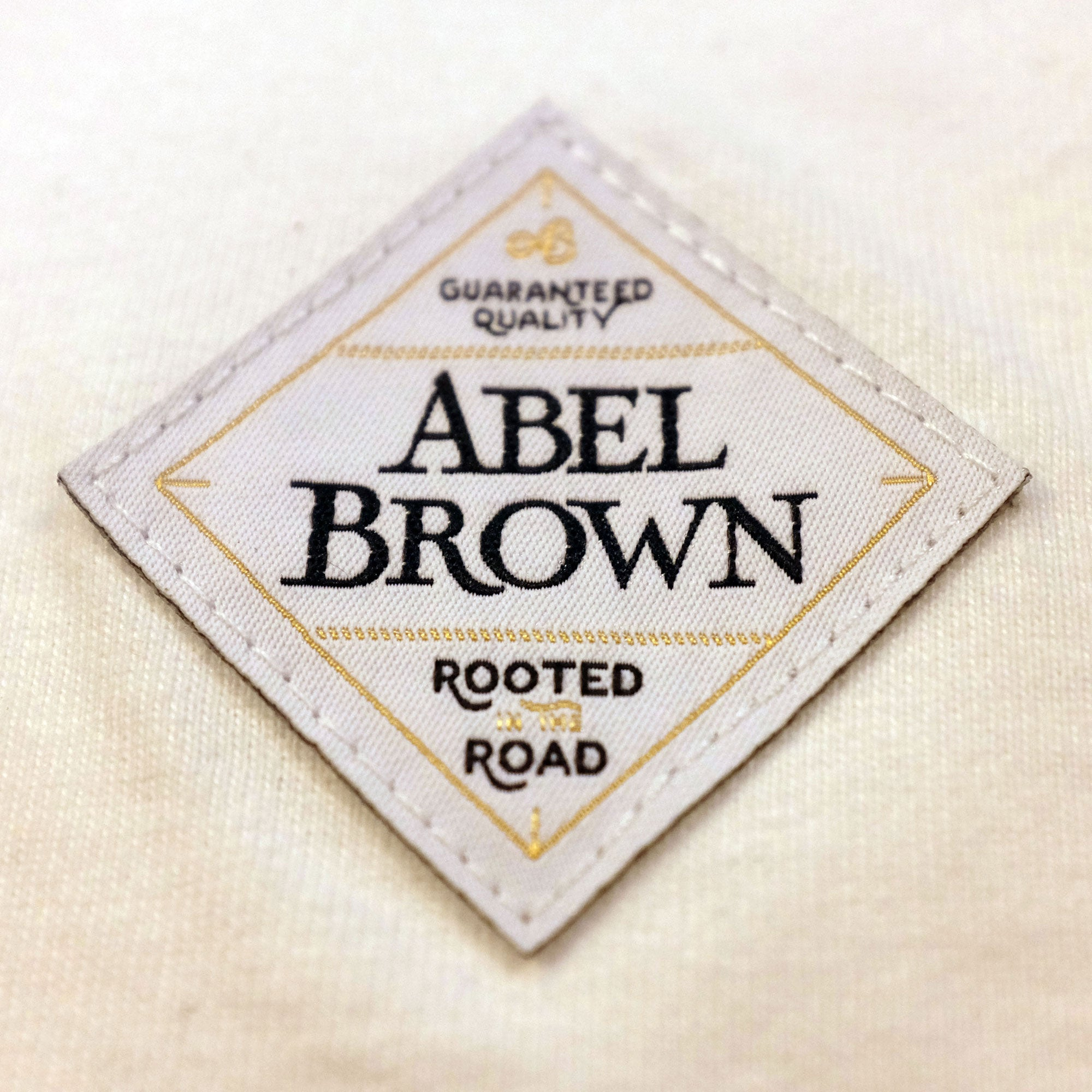 Raceday 3/4 sleeve Henley shirt- White - Abel Brown