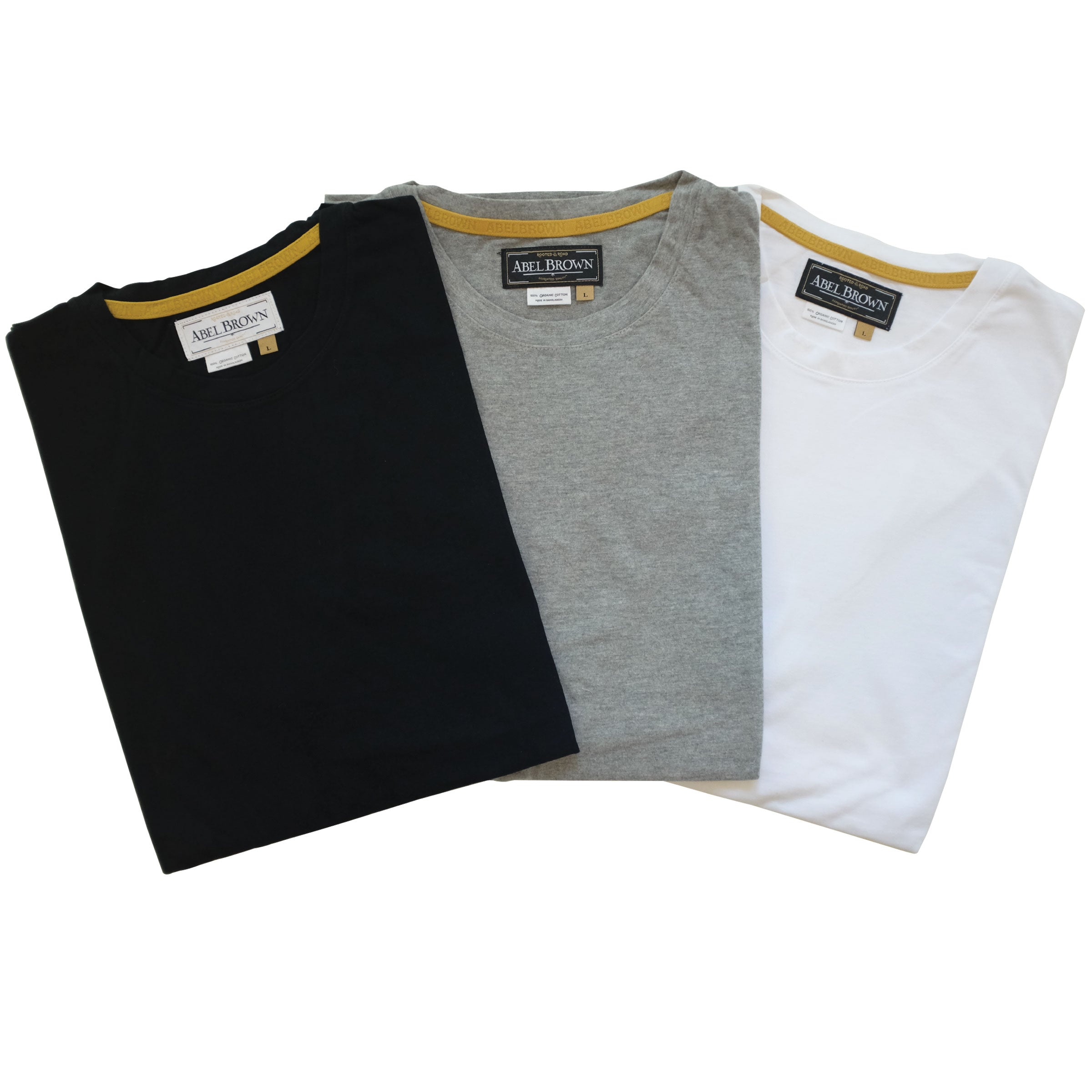 The Abel Brown ulimate perfect tee for guys, made with the finest organic cotton, and fits like the best tee shirt ever