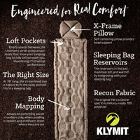 Klymit Inertia Ozone Recon Ultralight Sleeping Pad - Abel Brown