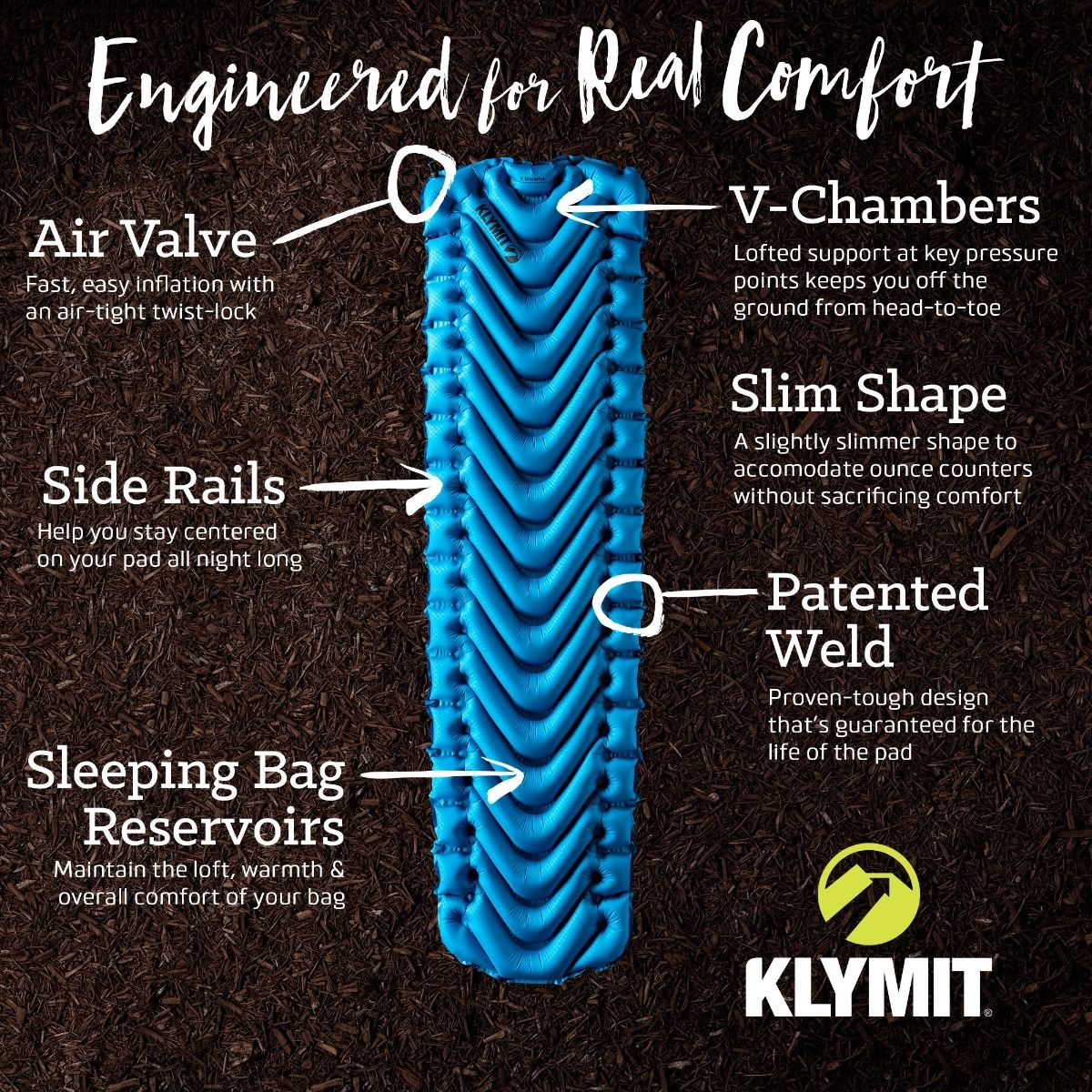 Klymit V Ultralite SL Sleeping Pad - Abel Brown