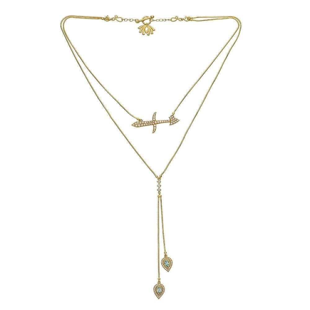 Detachable 3 in 1 Sagittarius Necklace