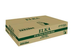 ELKA 82L CLEAR HEAVY DUTY GARBAGE BAGS CARTON OF 250 (ROLL)