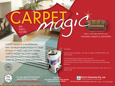 CARPET MAGIC (Powder) – Carpets & Upholstery Cleaner