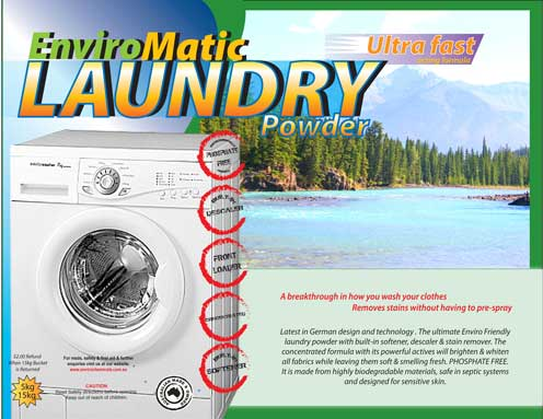 ENVIRO MATIC FRONT LOADER Anti-Bacterial Laundry Powder Concentrate
