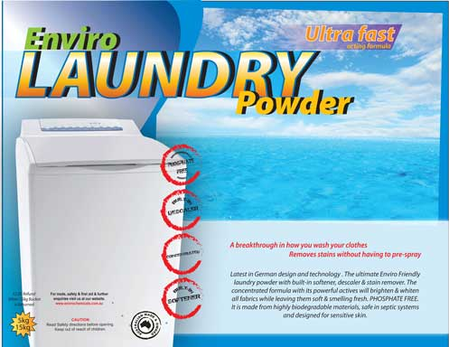 ENVIRO LAUNDRY POWDER Anti-Bacterial Concentrated