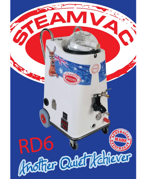 Steamvac RD6 Pack (Comes with 15 Meter Vac Hose, 15 Meter Pressure Hose and Wand)