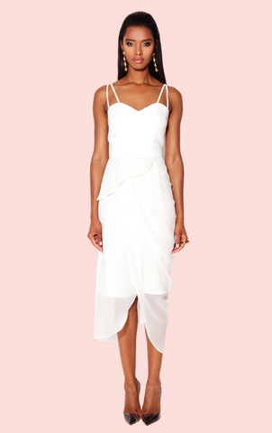 Laurence Kazar Beaded Dress - White