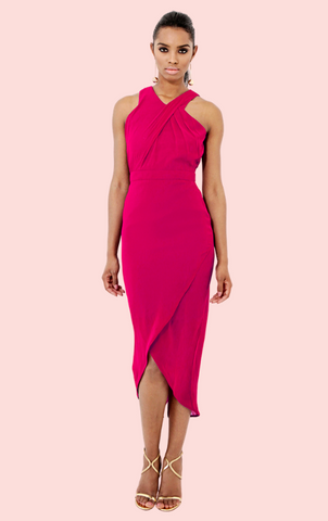 Sleveless Ruch Dress - Mulberry