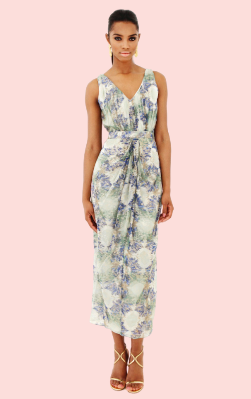 Shoreditch Sleeveless Dress - Print