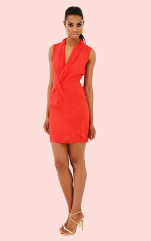 Frankie Lace Dress - Red