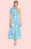 Cannes Midi Dress - Blue Print