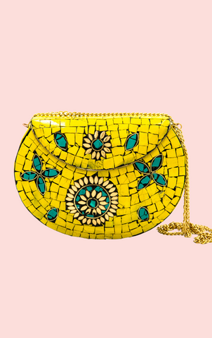 Lila Mosaic Tile Bag