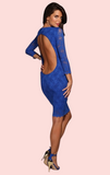 Lisa Lace Mini Dress - Cobalt