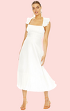 Love In Paris Midi Dress - White