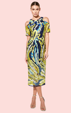 Idol Midi Dress - Black Print