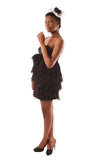 Jodi Feather Dress - Black