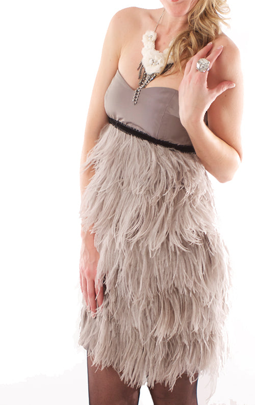 Jodi Feather Dress - Smoke