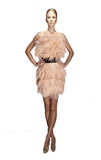 Max Feather Dress - Blush