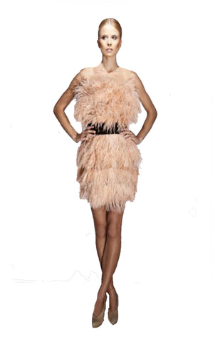 Fringe Flapper Dress - Black
