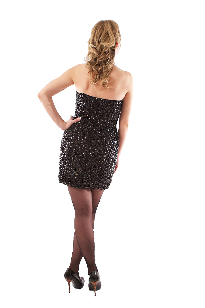 Molly Crystal Dress - Black