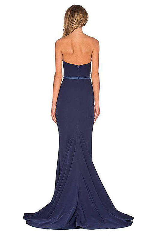 Arianna Strapless Dress - Navy