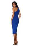 Harper Asymetrical Dress - Cobalt