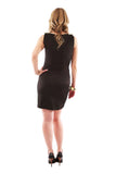 Sleeveless Satin Dress - Black