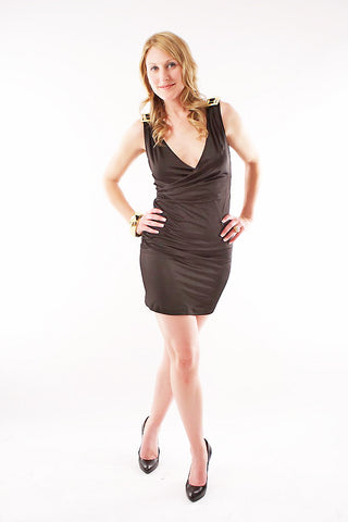 Angela Halter Dress - Black