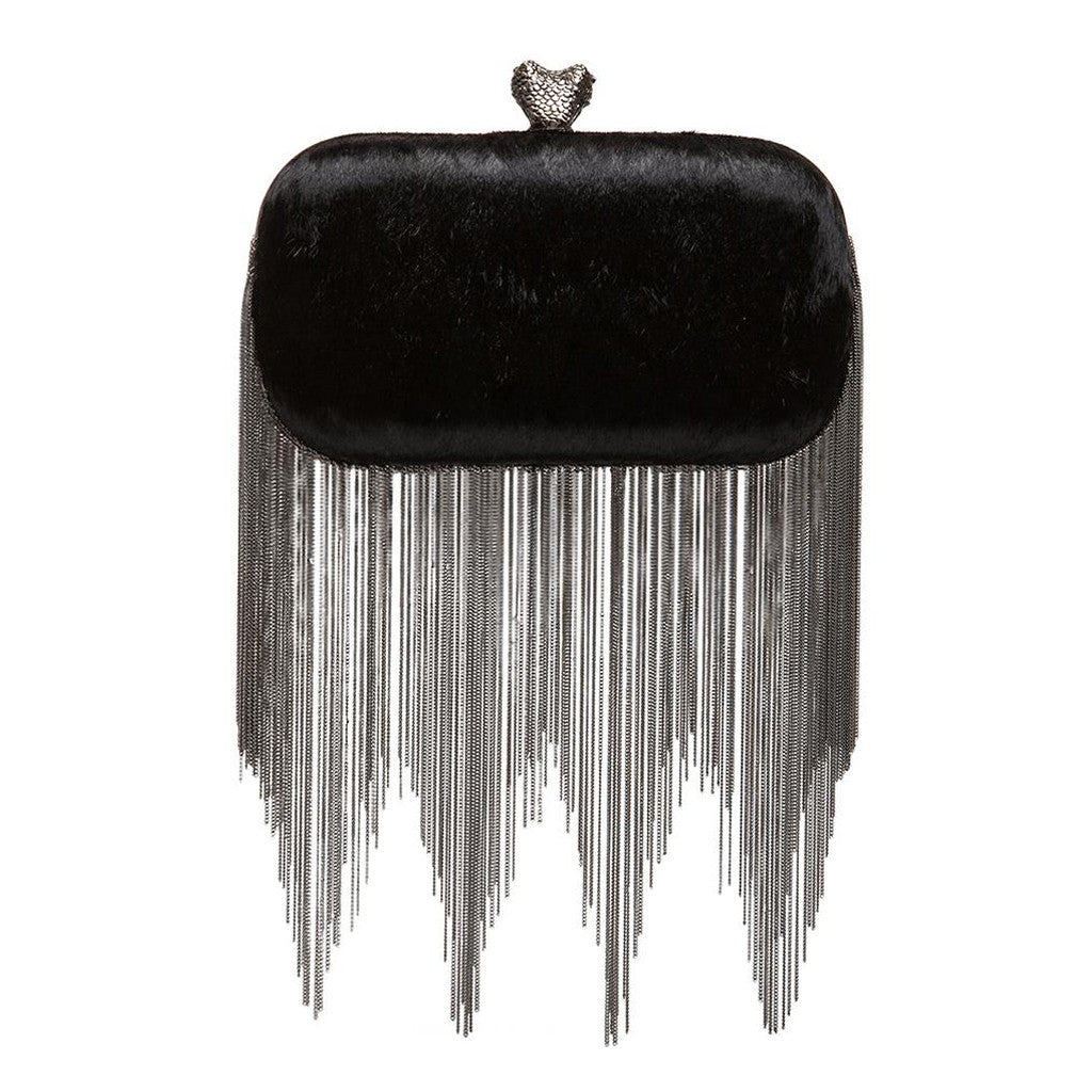 Jude Calf Hair Black - Clutch