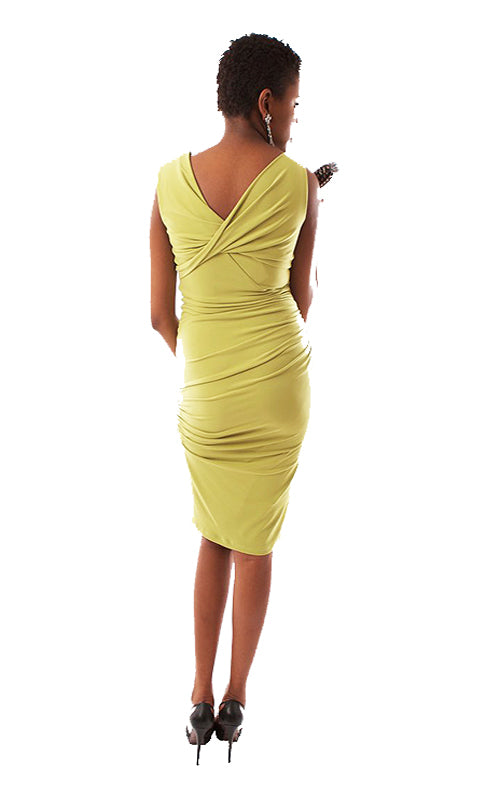 V-Neck Dress - Apple