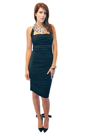 New Leaf Lace Dress - Black