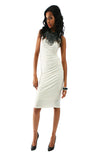 Davidson Halter Dress - White