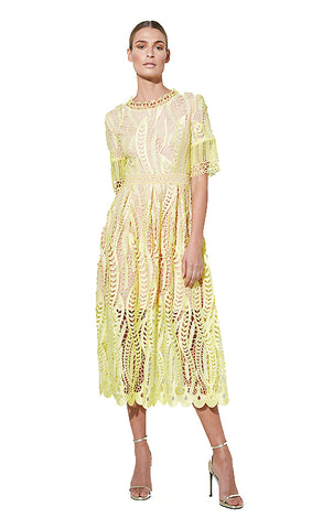 Parsons Chiffon Dress - White