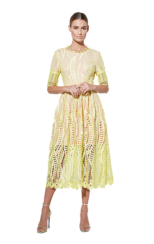 Revival Dress -Yellow
