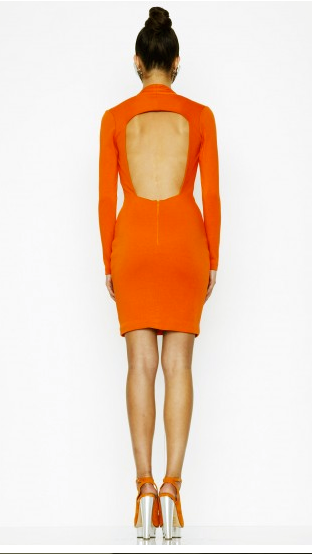 AQ/AQ Long Sleeve Dress - Orange
