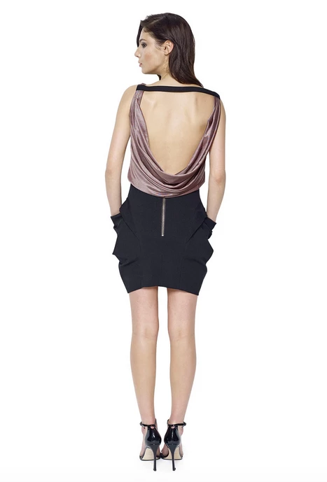 Chloe Dress - Bronze Black