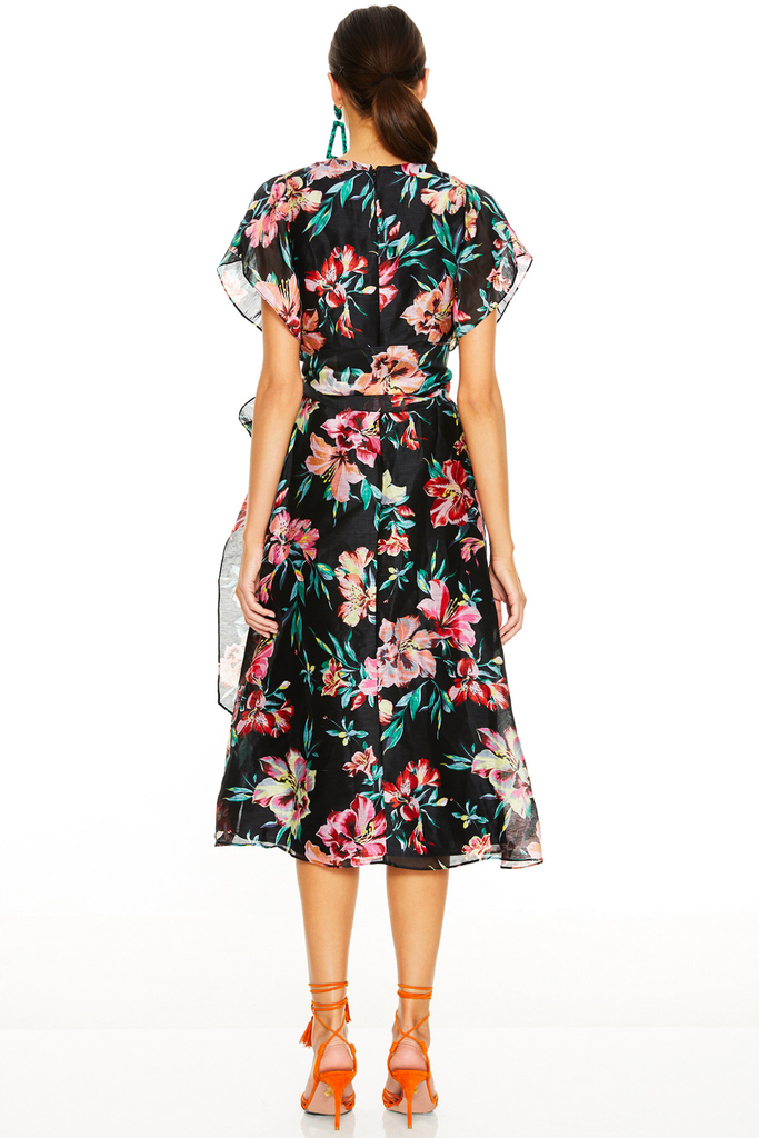 Cabana Nights Midi Dress - Floral Print