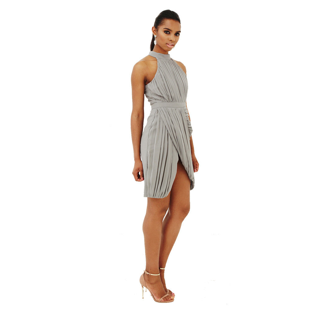 Soho Halter Dress - Grey