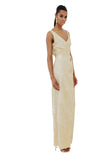Mortimer V-Neck Dress - Gold