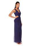 Windsor Drap Front Maxi Gown - Navy