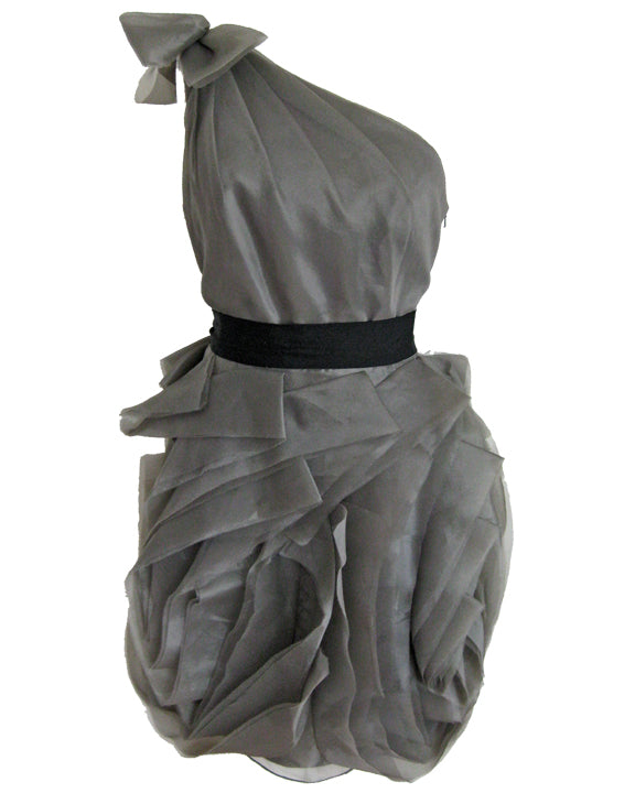Organza Dress - Grey