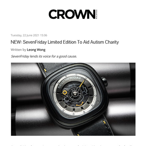 SevenFriday Limited Edition To Aid Autism Charity News by Crown Watch Blog