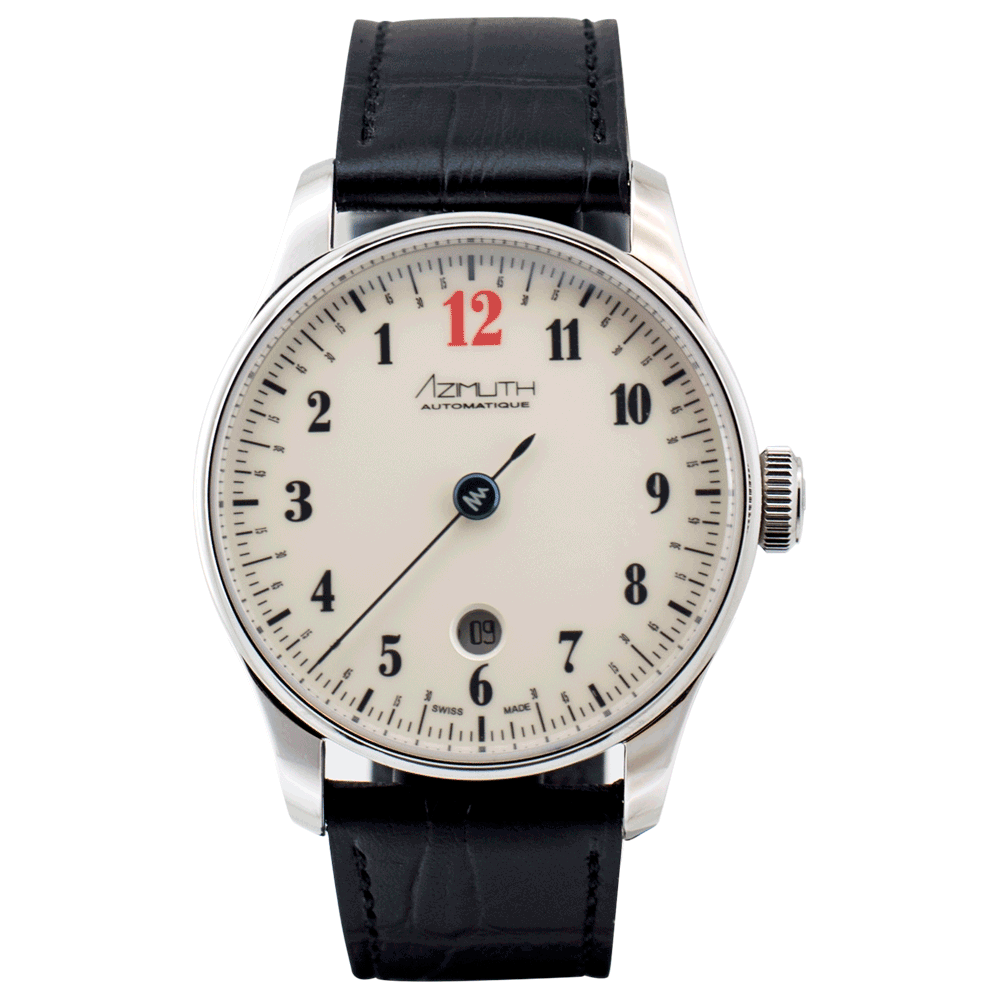 AZIMUTH Back in Time with Date Enamel Beige - Red Army Watches Malaysia