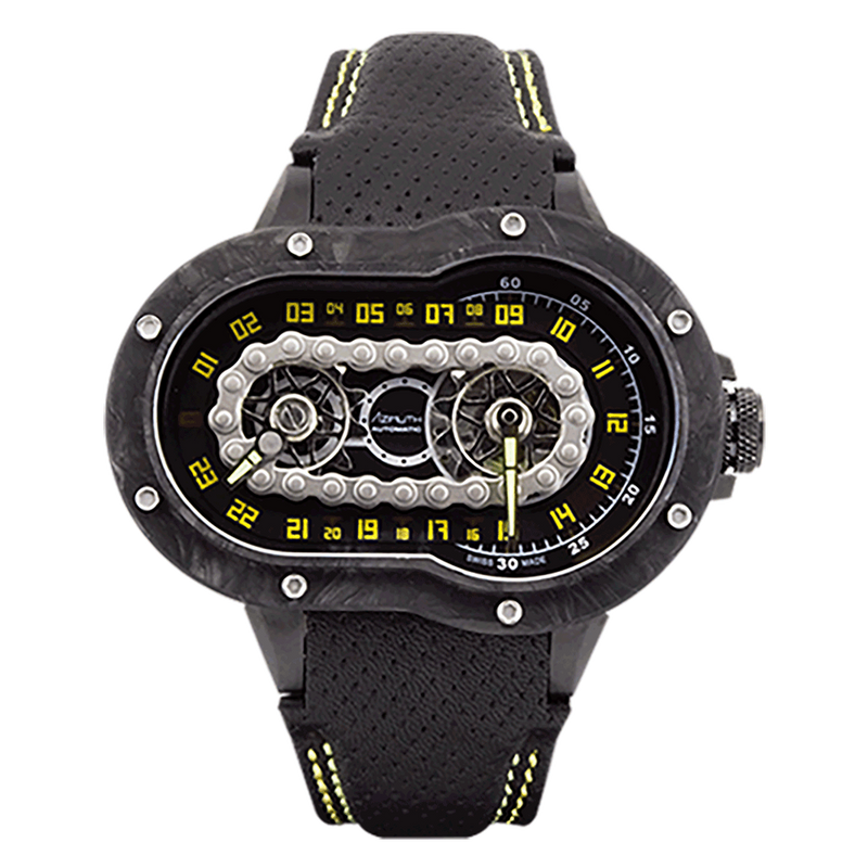 AZIMUTH Crazy Rider Carbon PVD - Red Army Watches Malaysia