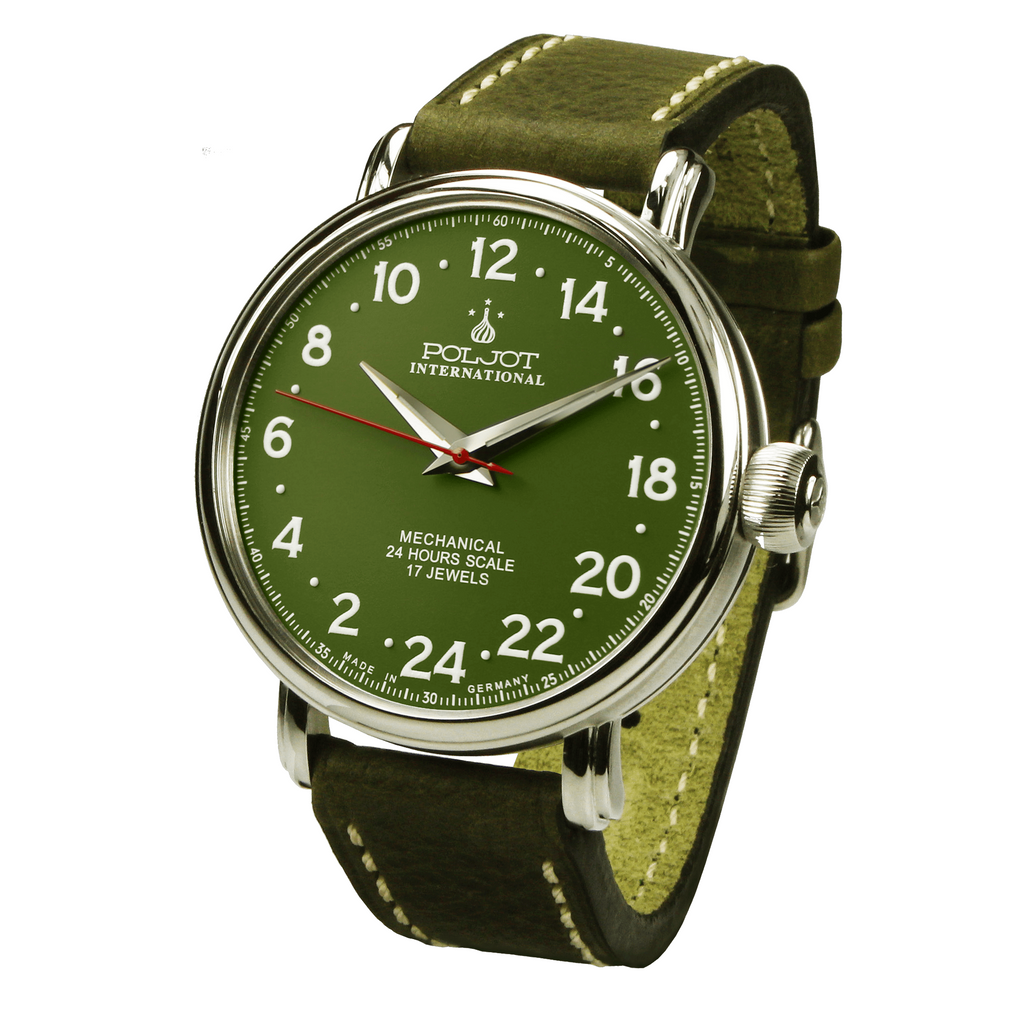 POLJOT INTERNATIONAL Polar Bear 2423.1940313 Green - Red Army Watches Malaysia