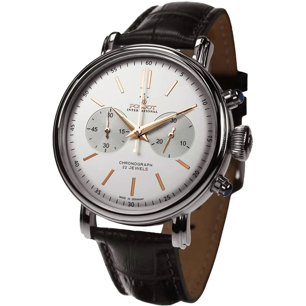 POLJOT INTERNATIONAL Classic Chronograph 2901 Silver - Red Army Watches Malaysia