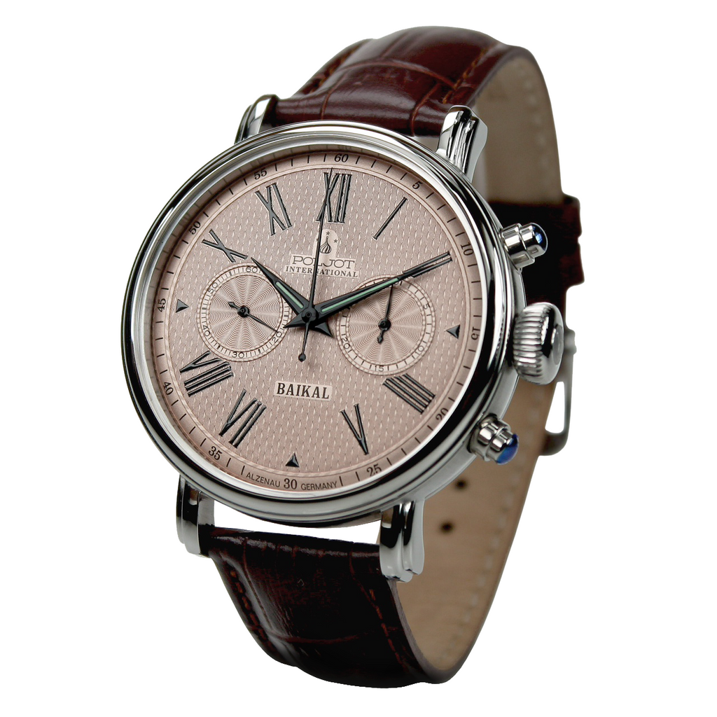POLJOT INTERNATIONAL Baikal Chronograph 2901 Salmon - Red Army Watches Malaysia